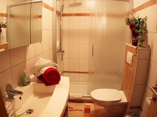 """""""Dobratsch"""" apartman: fürdőszoba"""